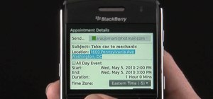 Use the Address Recognition feature on a BlackBerry Bold 9650 phone