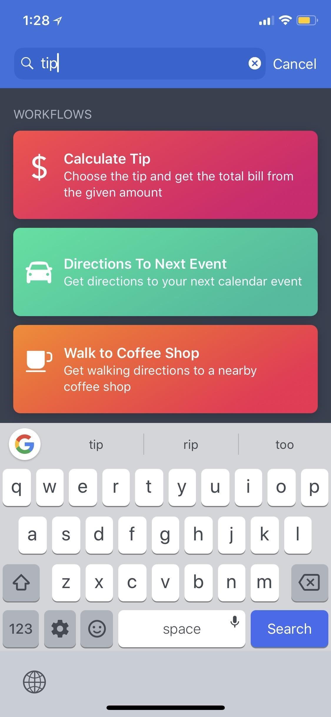 Workflow 101: How to Calculate Tips Faster on Your iPhone