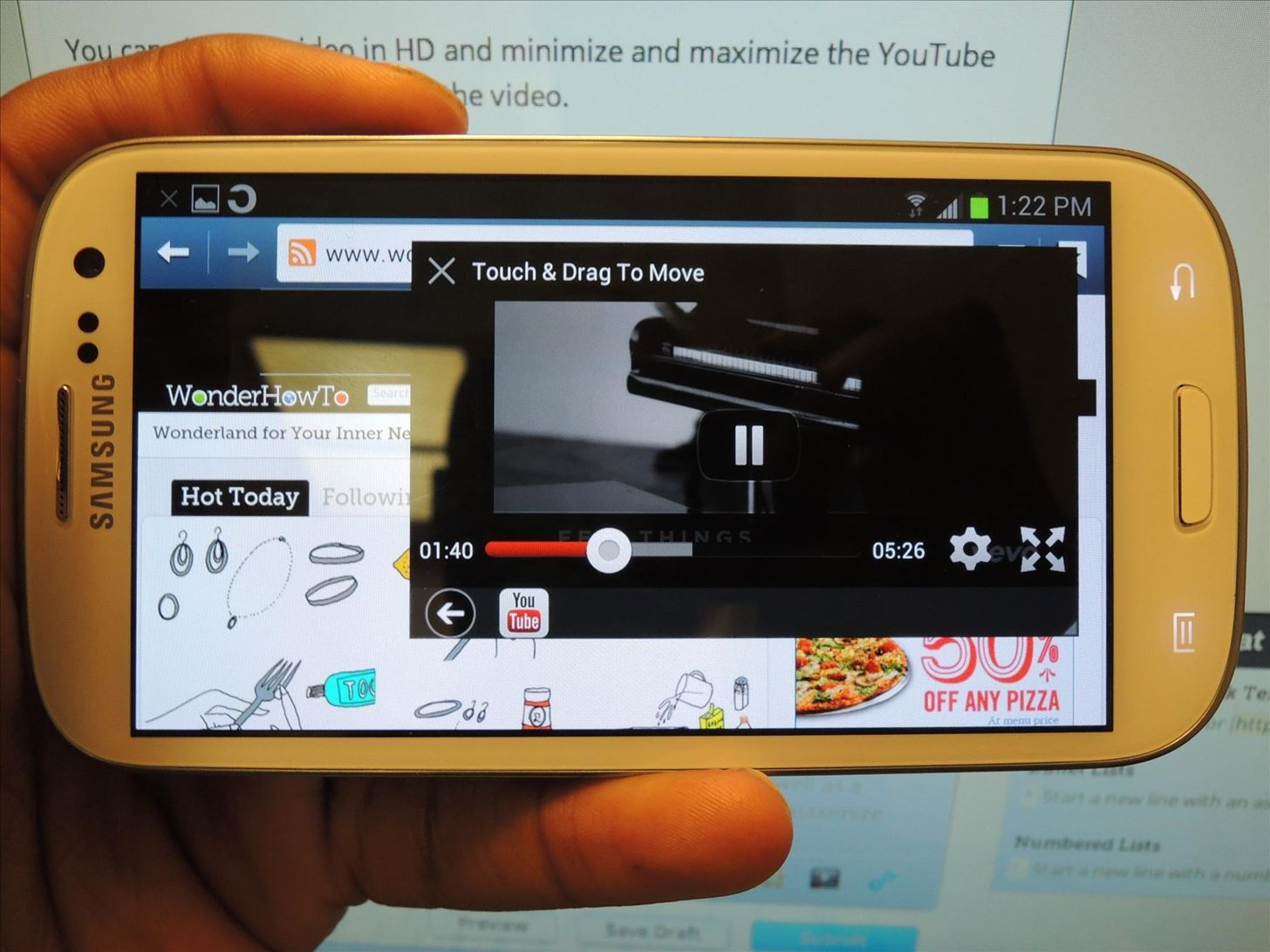 How to Float & Control YouTube Videos Over Any App or Home Screen on a Samsung Galaxy S3