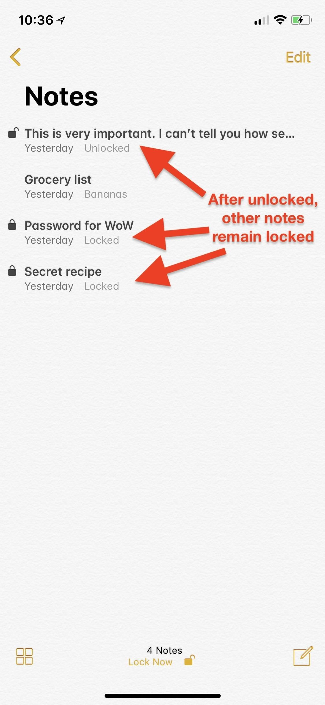 Notes 101: The Trick to Protecting Each Note with Separate, Unique Passwords