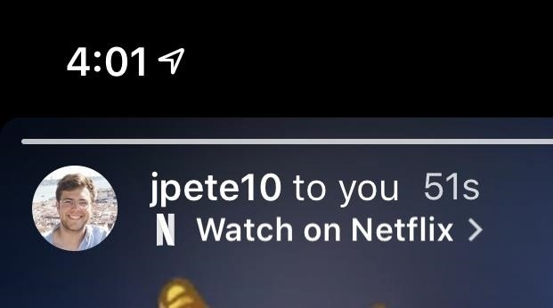 Share a Netflix video you just want to see in your Instagram story for friends to see with you
