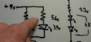 Make 9 volt LED flashlights using household items