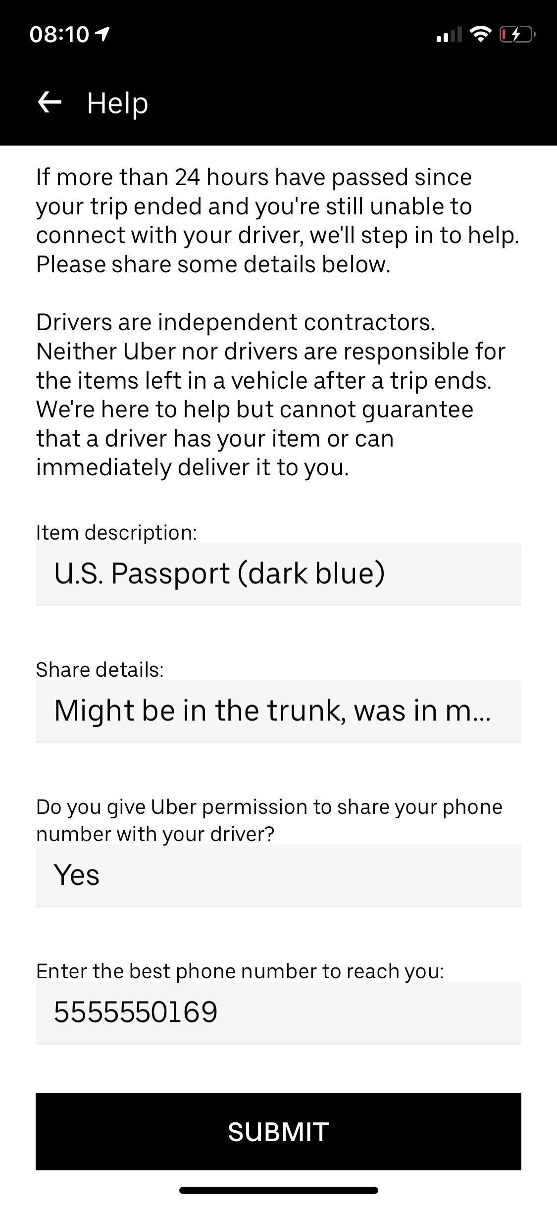 How to get your lost items back from an Uber driver (and what to do if they do not reply)
