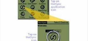 Hotsync a Palm unit with a missing sync button