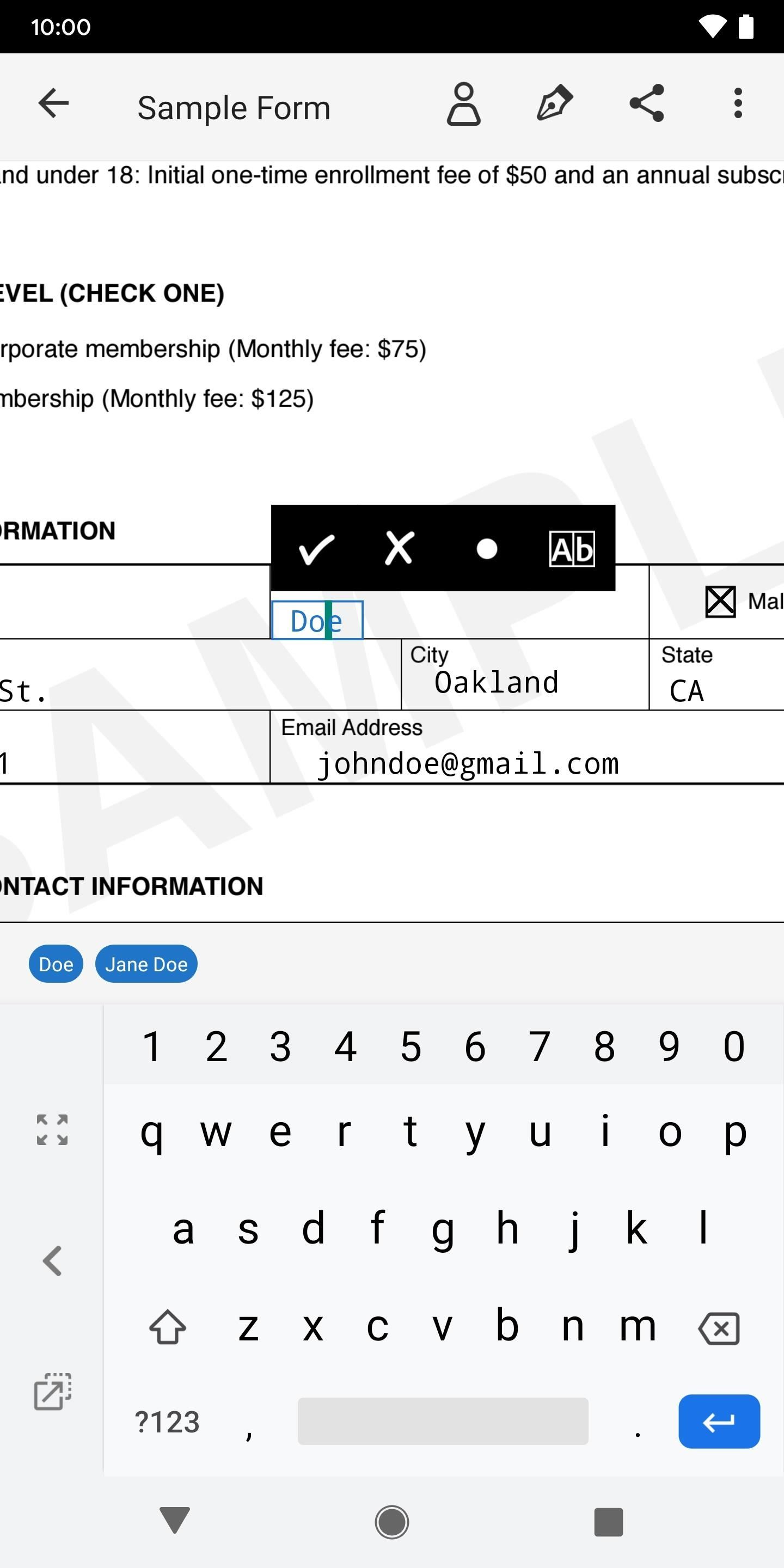 Use Adobe to electronically fill in and sign important forms on Android or iOS