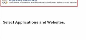 Unblock applications on Facebook