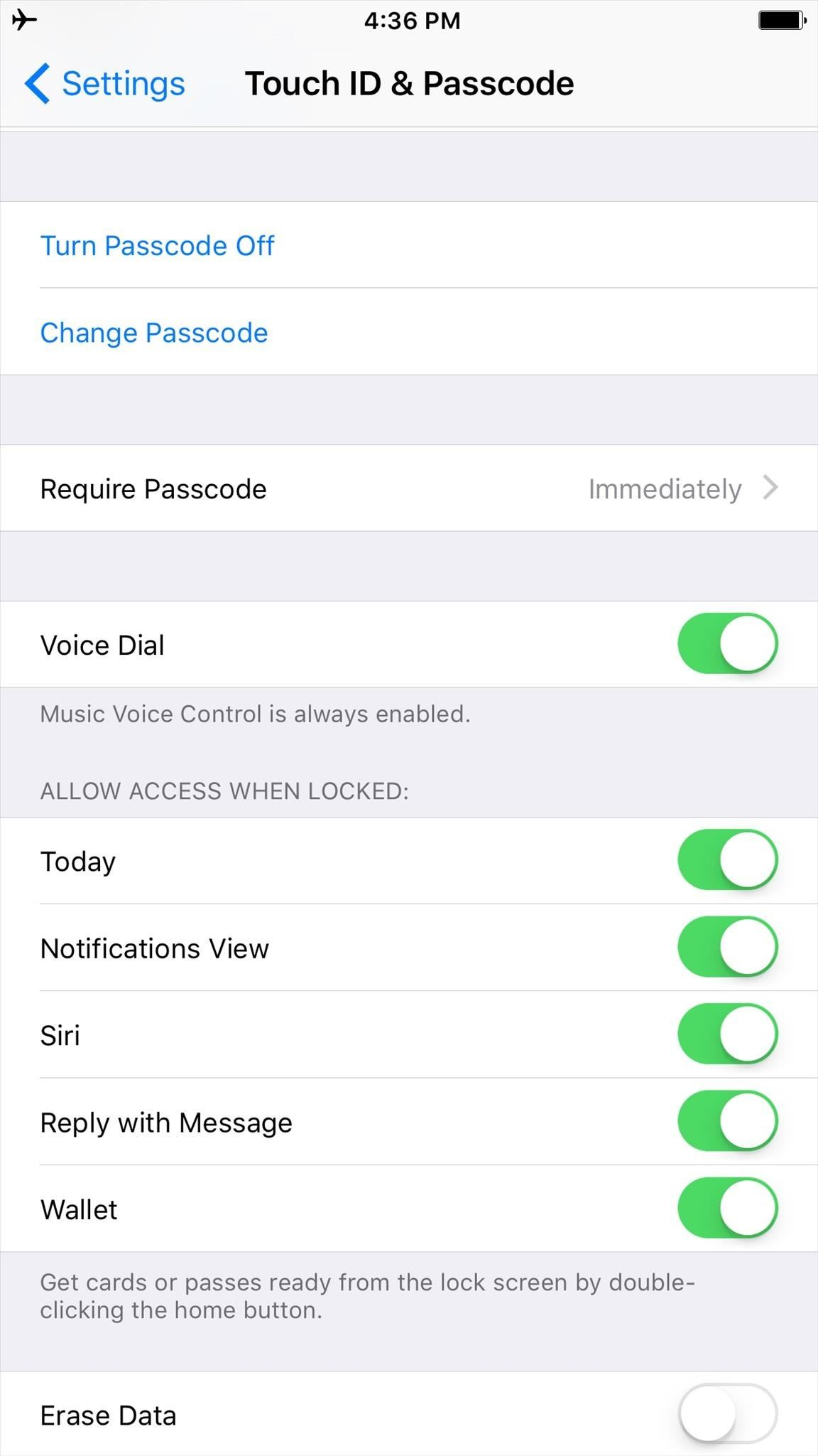 Once In, Scroll Down And Toggle Off Siri Under Allow Access When Locked  (this Will Also Disable Voice Dial Controls)