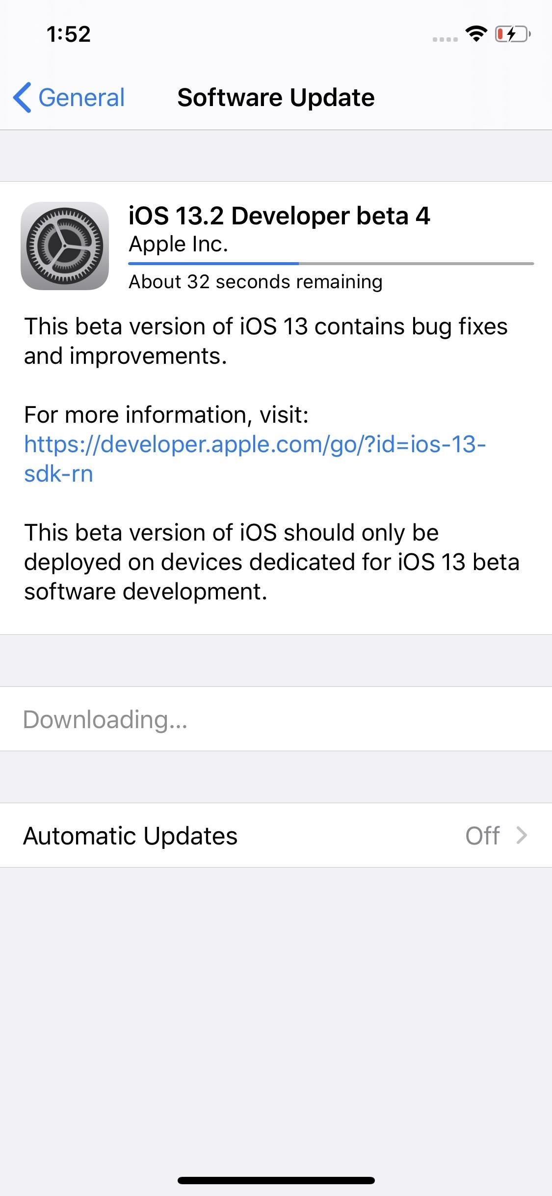 Apple Releases iOS 13.2 Developer Beta 4 for iPhone