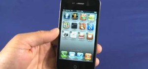 Organize your apps with folders on an Apple iPhone 4