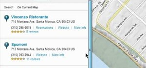 Search nearby a given location on MapQuest Maps