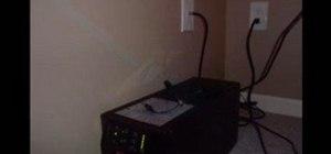 Convert a coaxial jack into a Ethernet jack