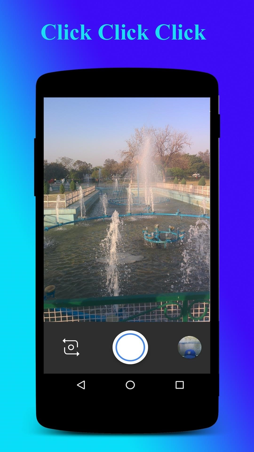 no need to go into the app and use camera from the app just use normal android custom camera