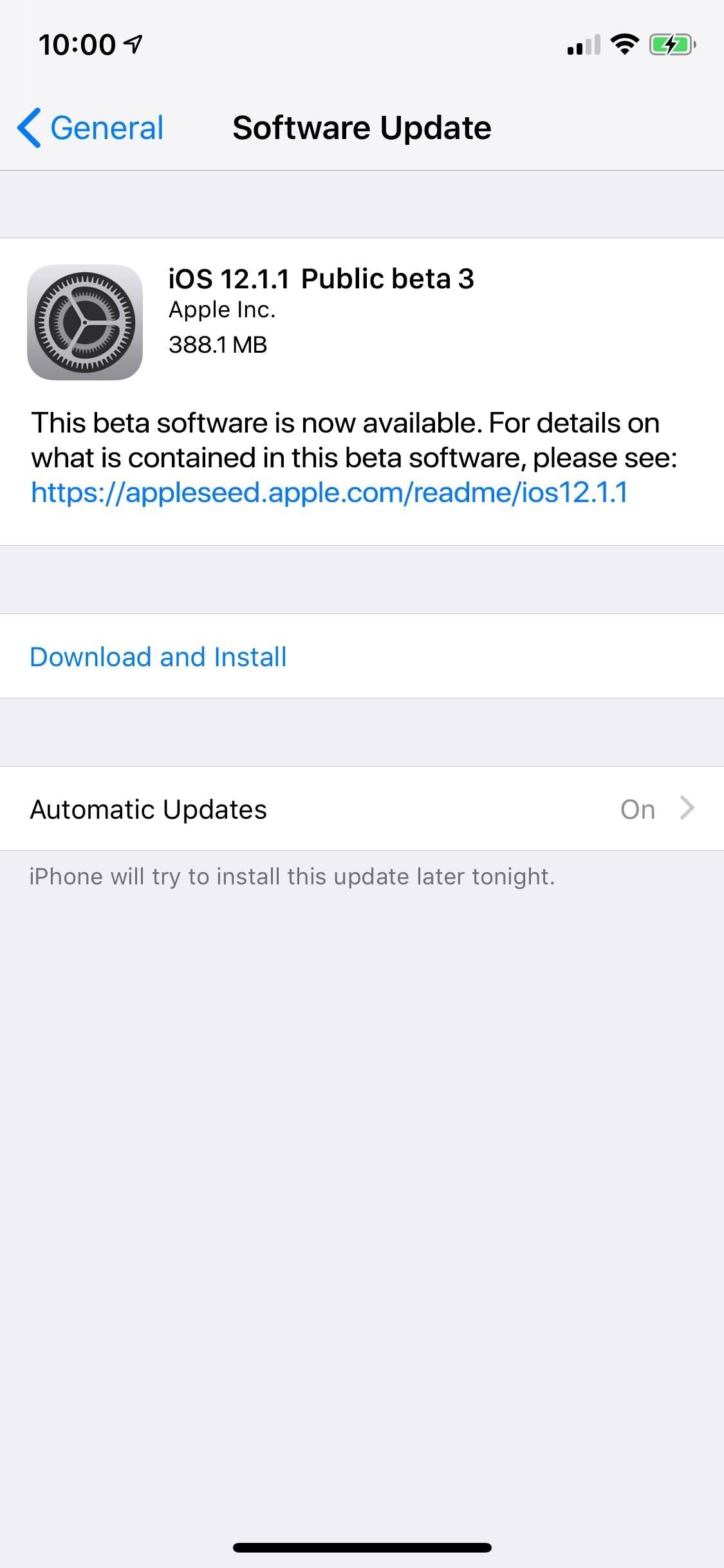 iOS 12.1.1 Public Beta 3 now available for software testers
