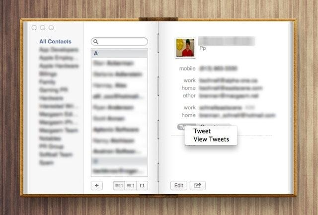 How to View Your Friend's Tweets in the Contacts App on Mac OS X Mountain Lion