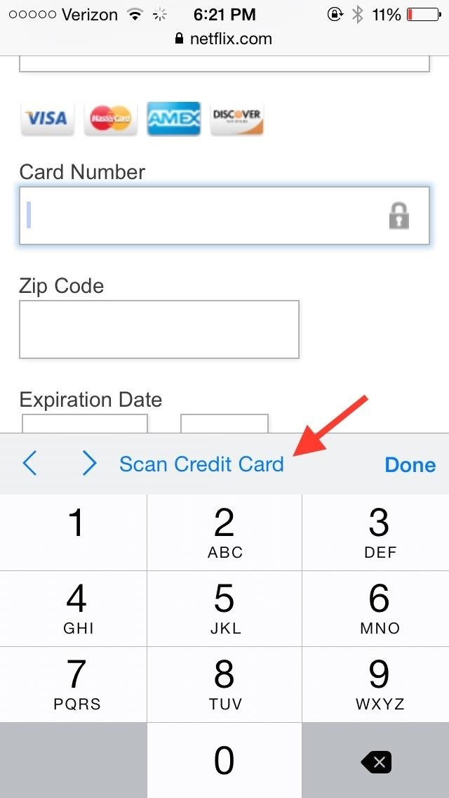 AutoFill Credit Card Forms Using Your IphoneS Camera In Ios