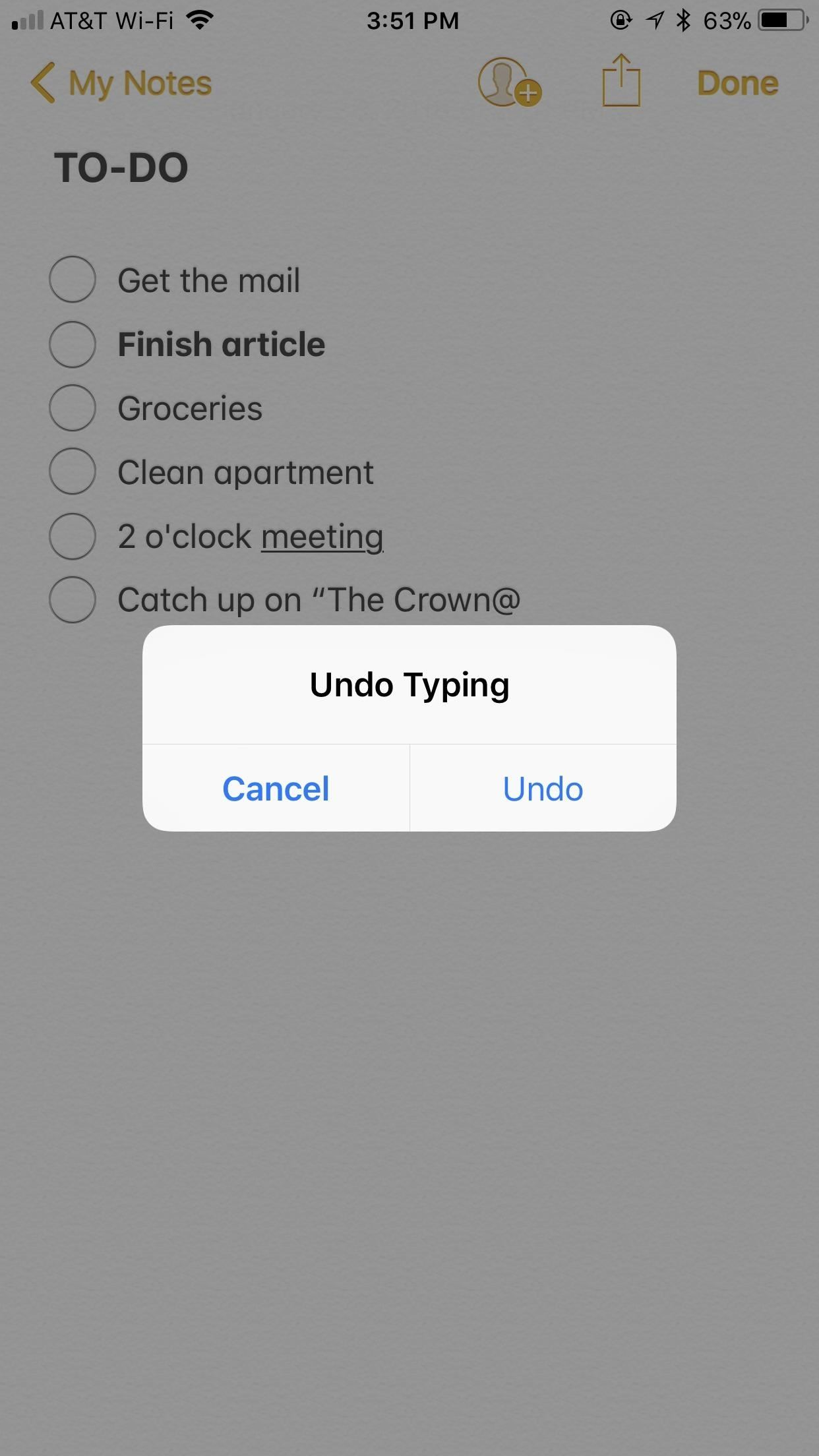 Notes 101: How to Undo Typing, Sketch Strokes, Deletions & More on Your iPhone