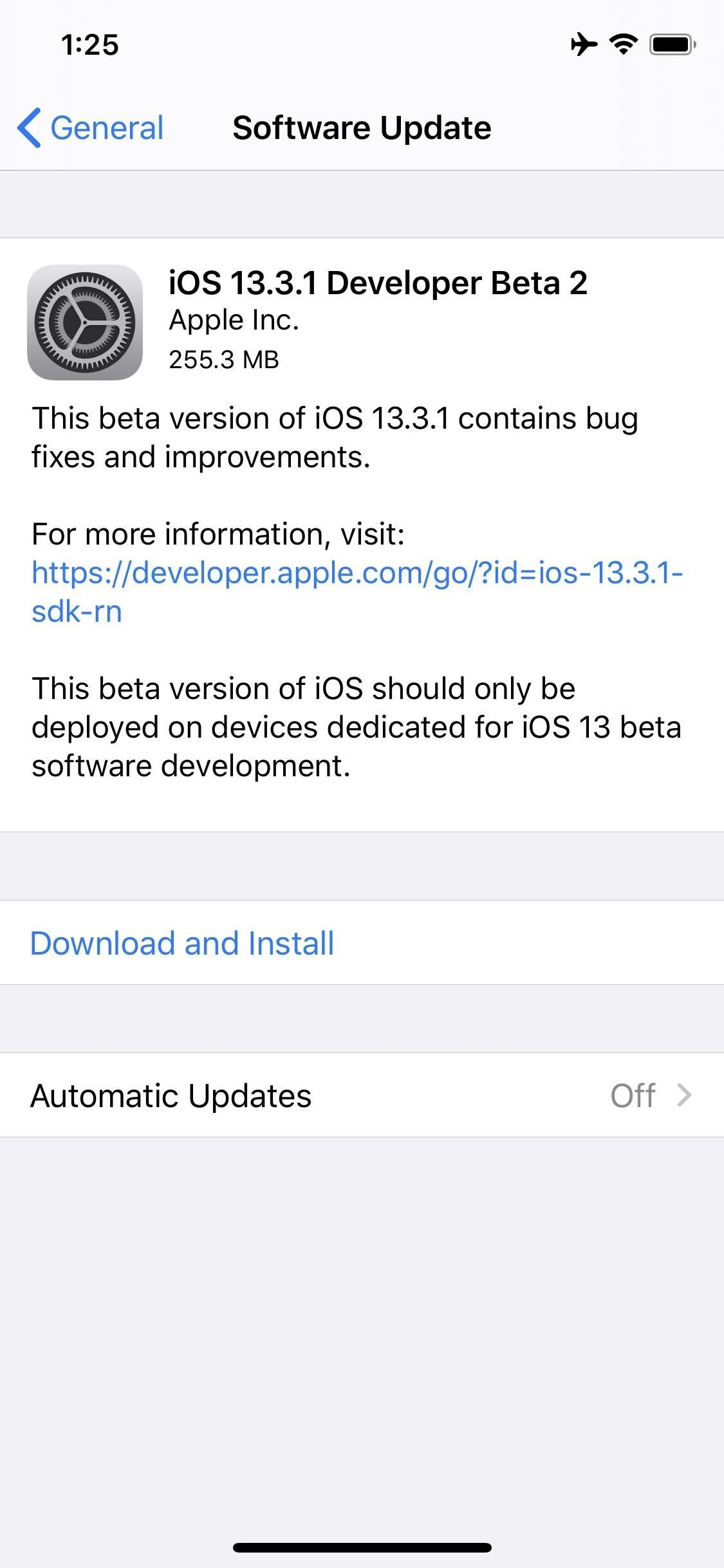 Apple Releases iOS 13.3.1 Developer Beta 2 for iPhone