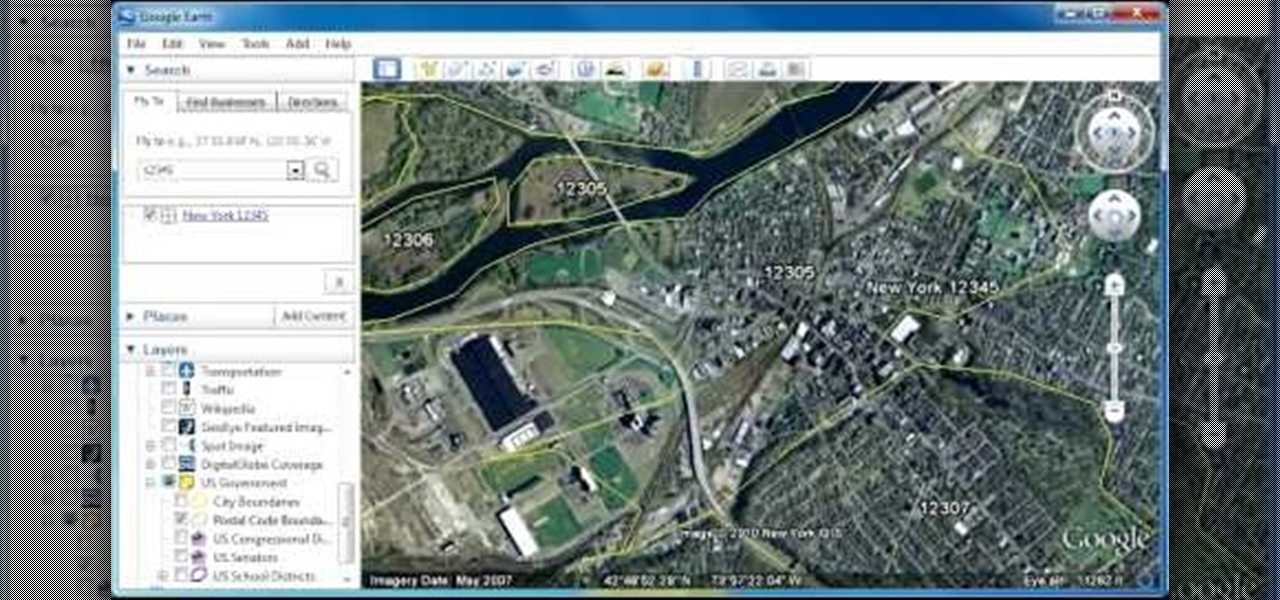 How to Display zip code boundaries with Google Earth