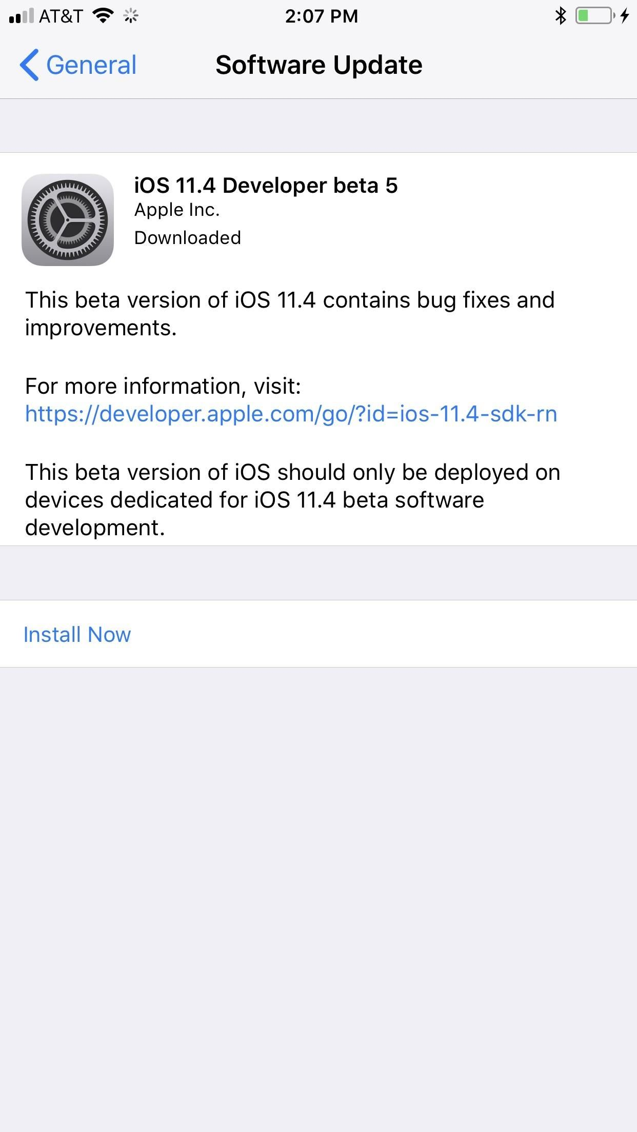 iOS 11.4 Beta 5 Released for iPhones with Under-the-Hood Improvements