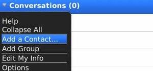 Create a new BlackBerry Messenger contact