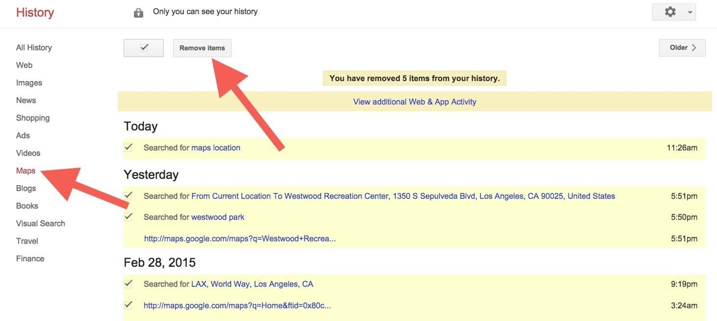 Nevertheless, You Can Delete All Of Your Location History By Going To  Google's History Page In Your Browser, Then
