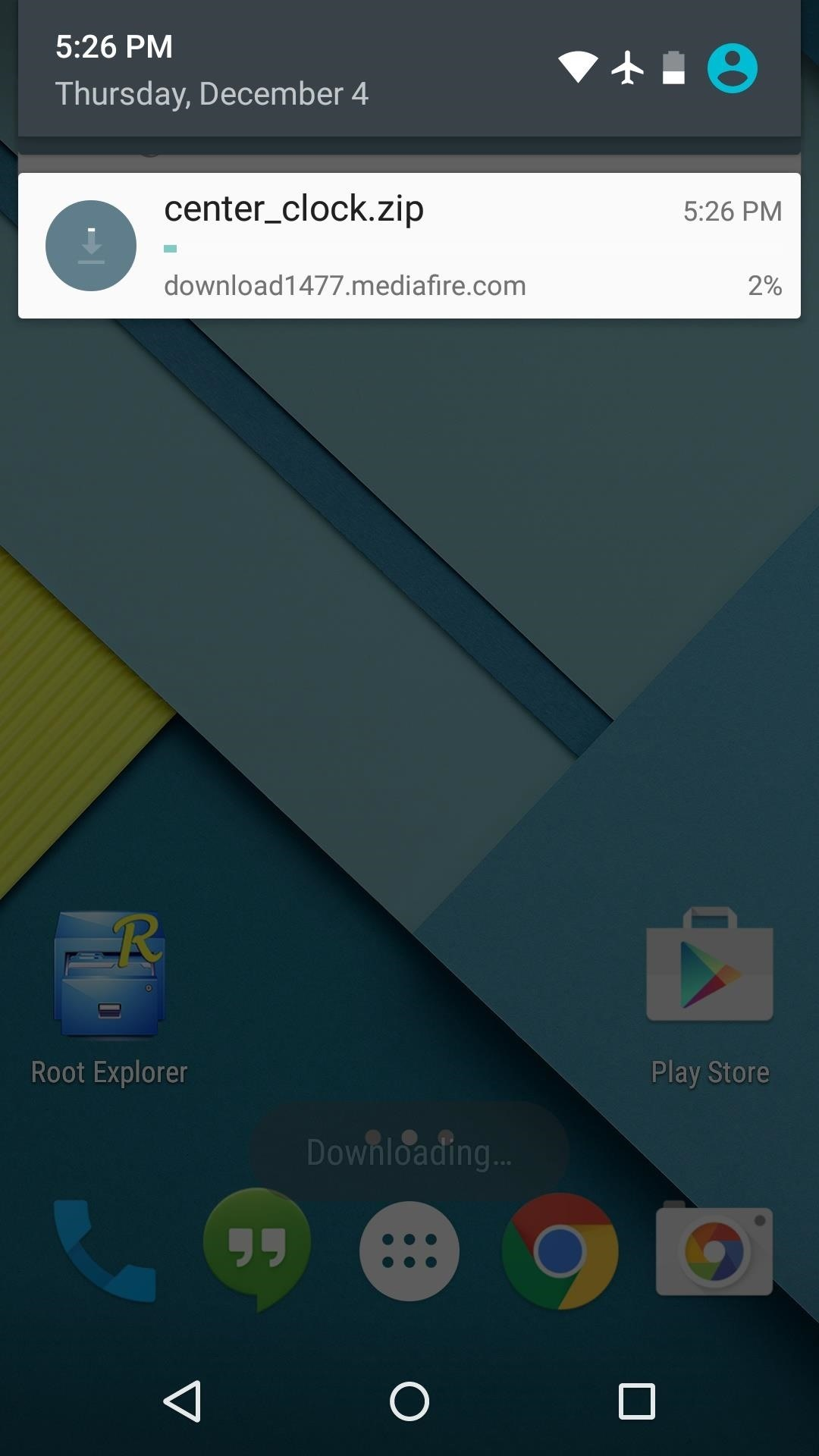 How to Center the Status Bar Clock in Android Lollipop