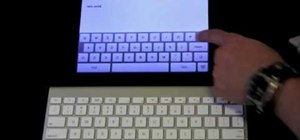 Use an external wireless keyboard with an Apple iPad